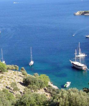 Crewed yacht charter kekova rout